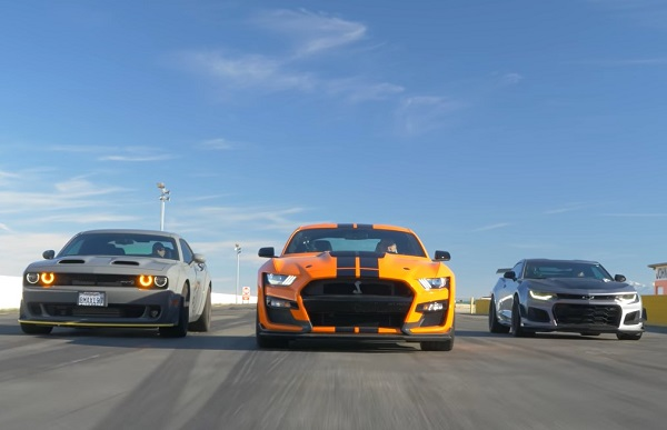 Ford Mustang Shelby GT500, Chevrolet Camaro ZL1 1LE, Dodge Challenger SRT Hellcat Redeye