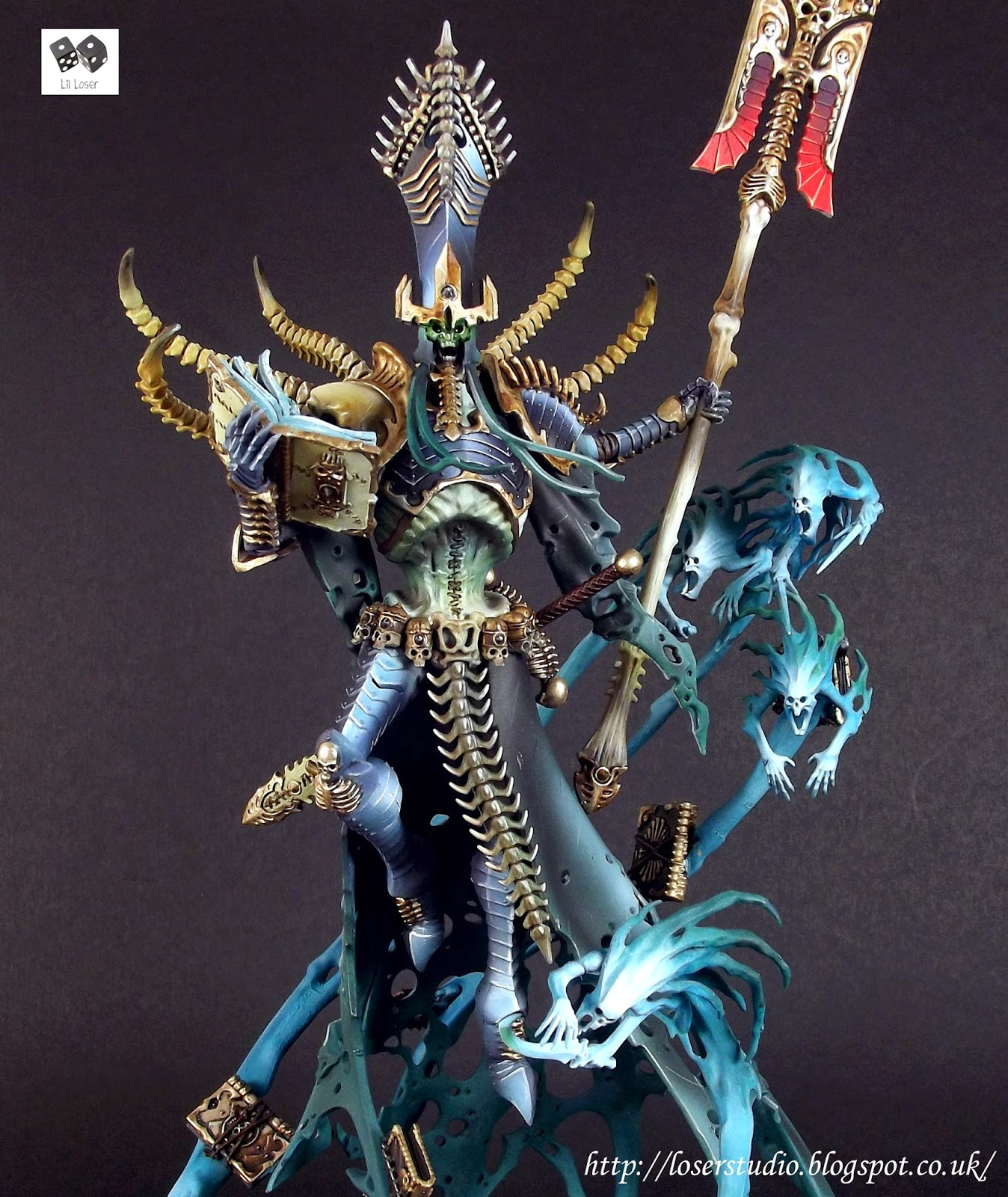 Iwata Airbrush Kit >> Nagash Supreme Lord of Undeath ~ LilLegend Commission Painting Studio