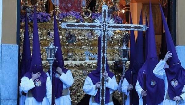 Las Aguas de Sevilla cambia de banda en la cruz de guía para el Lunes Santo 2019