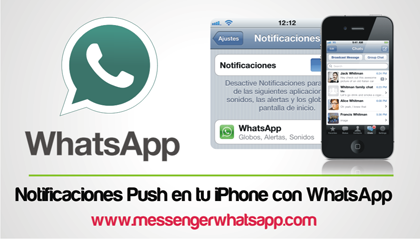 Notificaciones Push en tu iPhone con WhatsApp