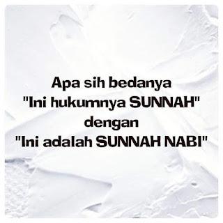 antara Sunnah Dan Sunnah Nabi