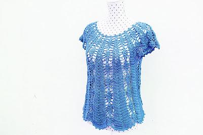 Blusa con piñas Majovel crochet 4