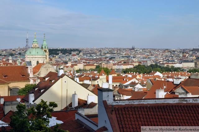widok na Pragę, zwiedzanie Pragi