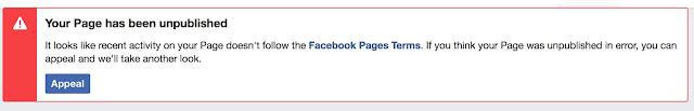 كيفية حل مشكلة الغاء نشر صفحة فيس بوك و ازالة الغاء النشر خلال 48 ساعة