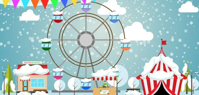 Figure: You go to a Christmas fair with a big Ferris wheel. The wheel has ten seats, and two people are placed on each seat. Every minute a seat passes by the exit platform. At 11 a.m. the Ferris wheel opens for 30 minutes – how many people have ridden the wheel during this time?