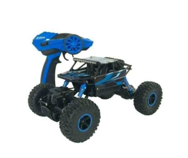 Kids EMPIRE Remote Control Rock Crawler (4WD) � Off Road Monster Truck Remote Control 4x4 - RC Car, Water Proof Car- Best for Playing Climbing Games and High Speed Racing (Blue/ Red)