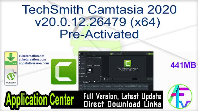 TechSmith Camtasia 2020 v20.0.12.26479 (x64) Pre-Activated