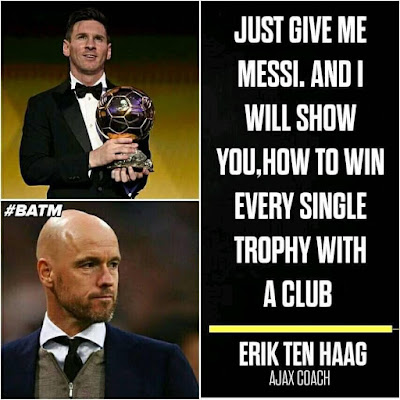 Just Give Me #Messi and iwill show you how to WIN EVERY #TROPHY...#ERIK #TEN #HAAG