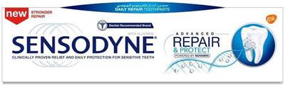 معجون الأسنان سنسوداين المطور ترميم وحماية