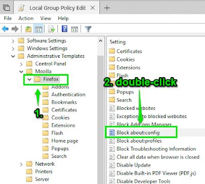 Tutorial ini menjelaskan cara menonaktifkan akses ke halaman konfigurasi Firefox dengan gr Cara menonaktifkan akses ke halaman konfigurasi Firefox dengan group policy