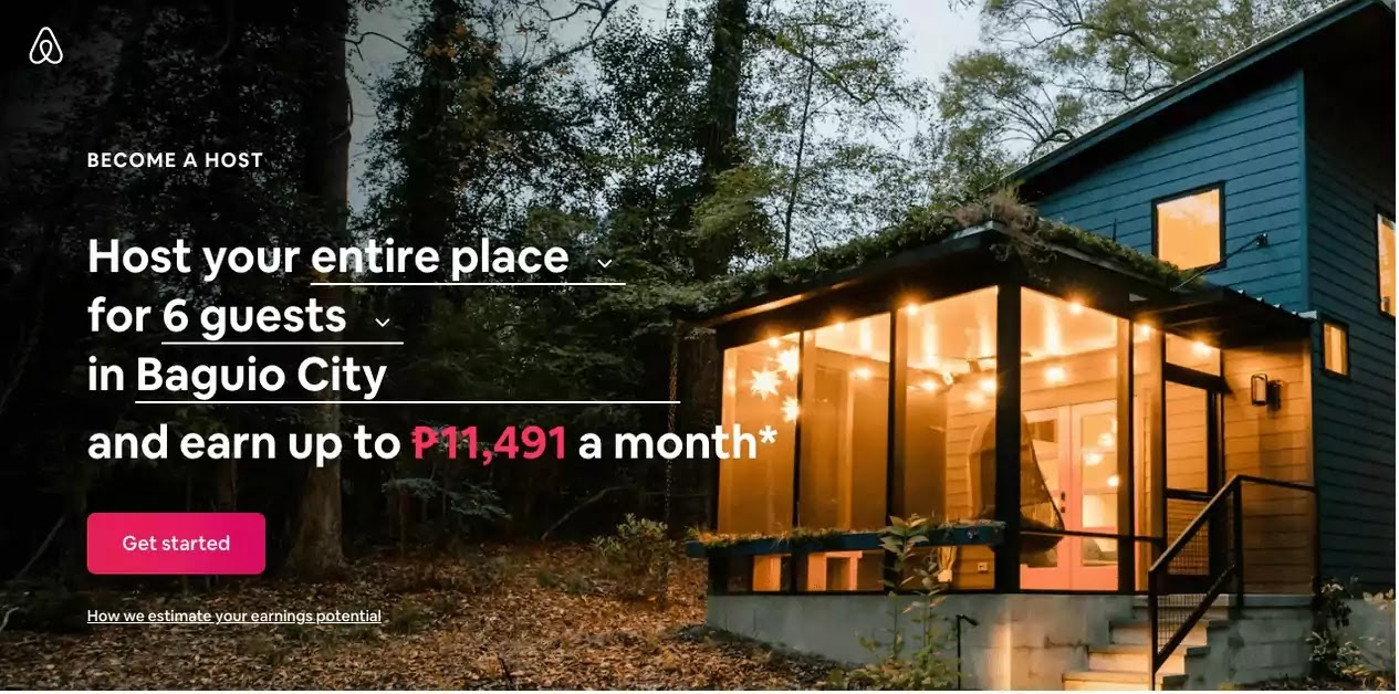 Airbnb's What's My Place Worth tool