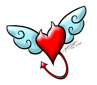 Heart With Devil Wings Tattoo