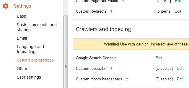 Custom Robots Header Tags