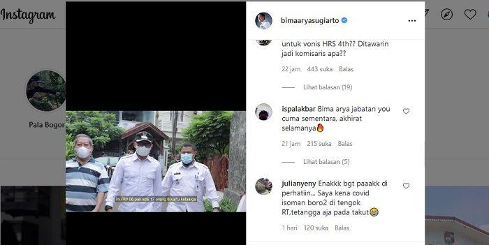 Buntut Vonis 4 Tahun HRS, Instagram Bima Arya Kena Serangan Teror Netizen