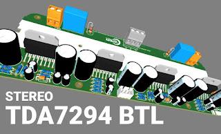 Power Amplifier TDA7294 BTL Stereo