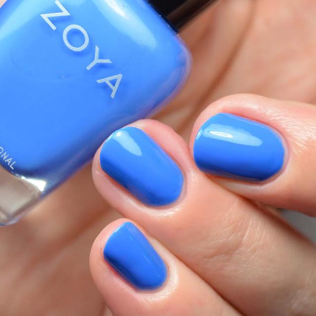 medium blue nail polish