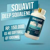 SQUAVIT 40 Softgel Squalene Deep Ocean Fish Liver Oil - Minyak Ikan Omega 3 6 Squa Original Asli