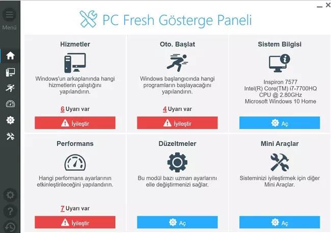 PC Fresh Gösterge Paneli