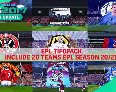 PES 2017 EPL Teams Tifopack Season 2020/21