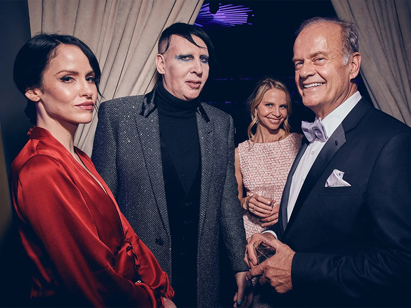 Lindsay Usich, Marilyn Manson, Kayte Walsh, and Kelsey Grammer