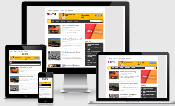 SEOMYNE Responsive Blogger template FAST LOADING 0.8s