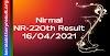 Nirmal NR 220 Lottery Result 16-04-2021