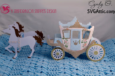 3d paper horse drawn carriage
