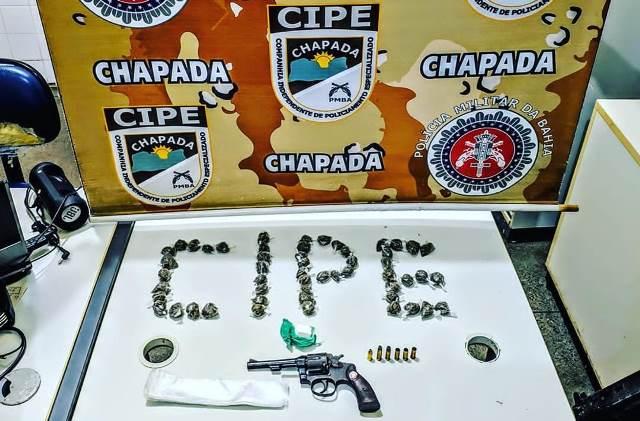 Itaetê: Homem morre após confronto com Cipe Chapada, arma e drogas são apreendidas