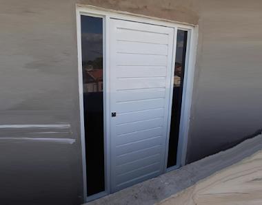 Portão em alumínio branco 46
