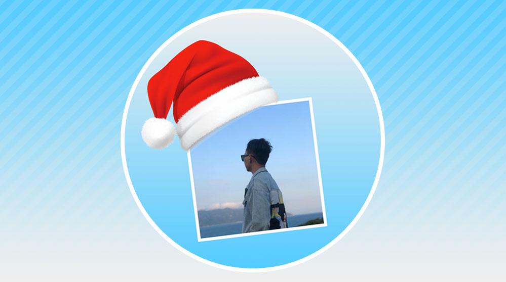 Tạo avatar của bạn đội mũ noel Online
