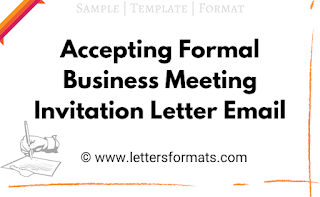 accepting business meeting invitation email