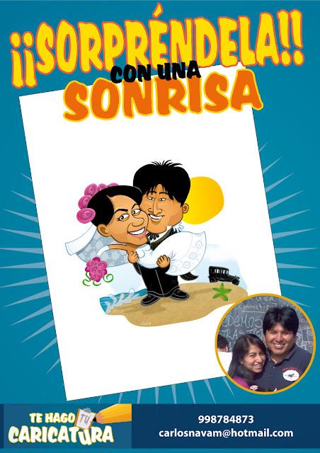 1 caricatura para parejas