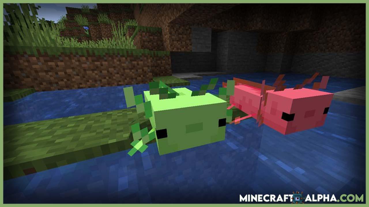 Minecraft More Axololts Mod 1.17 (Companions, Pets)