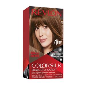 Thuốc Nhuộm Tóc Màu Medium Golden Brown 43 Revlon Colorsilk Của Mỹ
