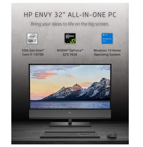 2021 HP 32-a1027c Envy 4K UHD All-in-One PC