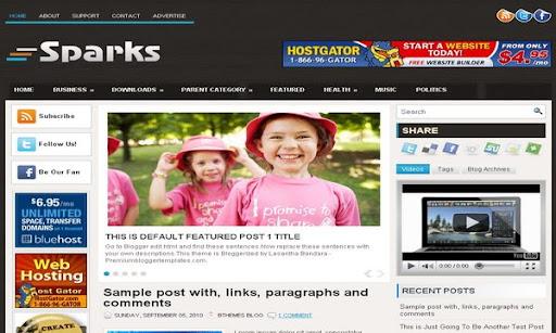 Sparks Blogger Template