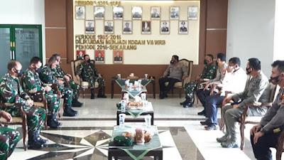 Tingkatkan Sinergitas TNI-Polri, Kapolda Sulut Kunjungi Pangdam dan Danrem.