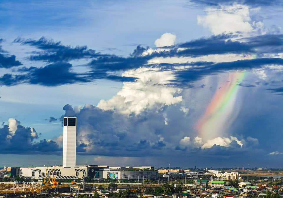"Rainbow clouds over Cebu a ""promise of sunshine after the rain"""
