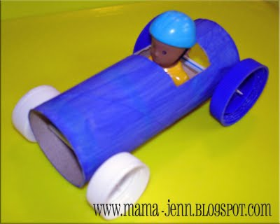 Car Craft For Preschoolers With Toilet Paper Rolls