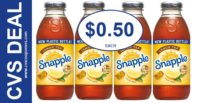 Snapple Lemon Tea CVS Deal 825-831