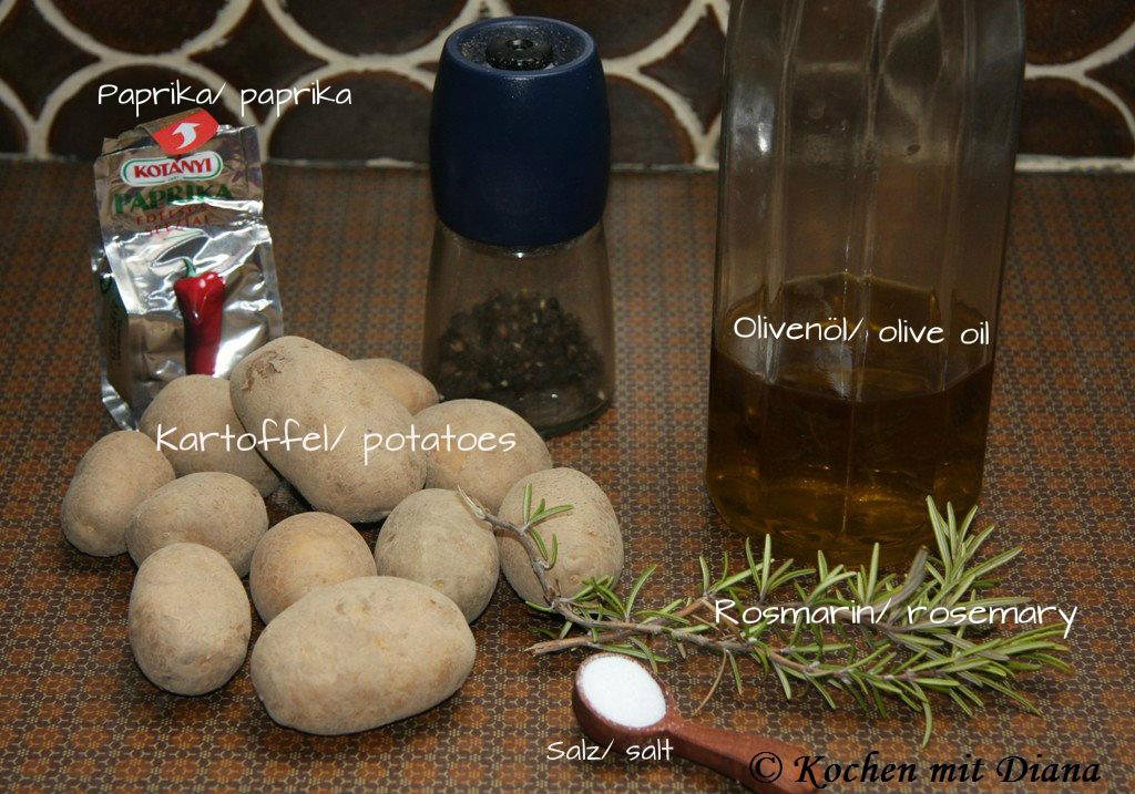 Zutaten Kartoffel Wedges