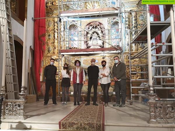 El Cabildo concluye los trabajos de restauración y conservación del retablo mayor del Santuario de Las Nieves