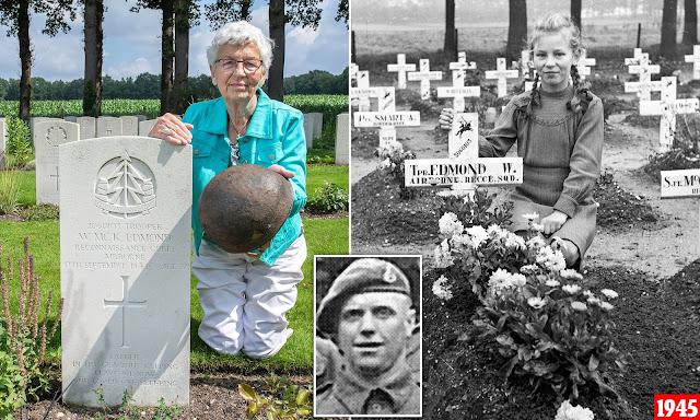 Женщина 75 лет ухаживает за могилой солдата, который когда-то спас ее деревню от нацистов