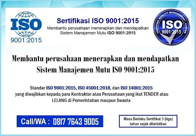 Sertifikasi ISO 9001 2015