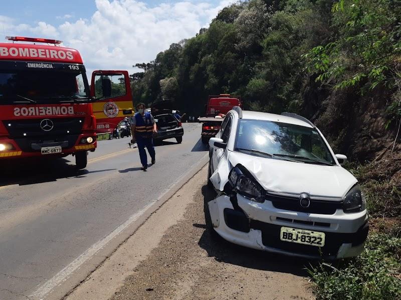 Colisão entre caminhão e carro deixa vítimas na região da Curva da Santa, entre Irani e Ponte Serrada
