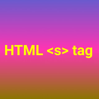 html <s> tag