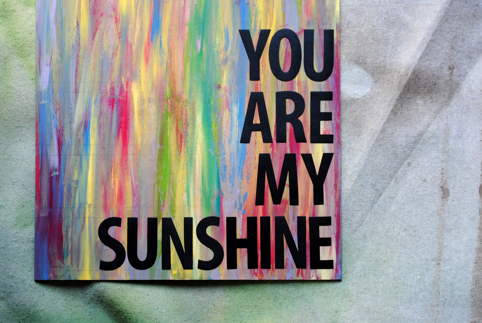 Easy Diy You Are My Sunshine Art