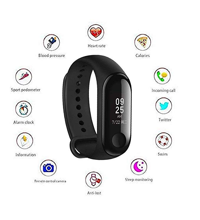 Fitness Equipments Honey 2019 New M3 Color Screen Smart Bracelet Sports Pedometer Fitness Watch Running Walking Tracker Heart Rate Pedometer Smart Band