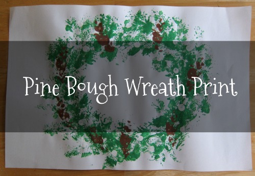 Pine Bough Wreath Print Tutorial for kids