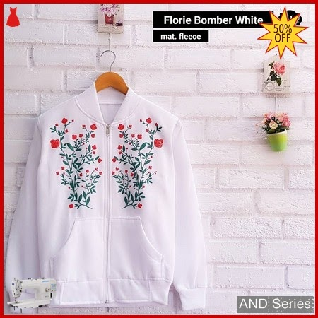 AND231 Jaket Wanita Florie Bomber Putih Jacket BMGShop